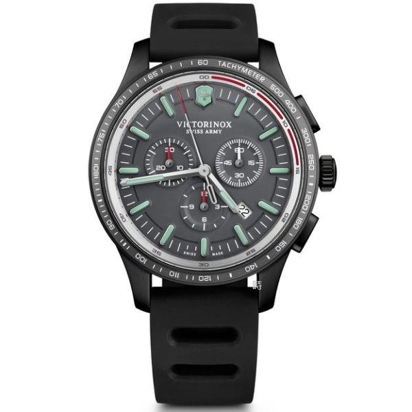 VICTORINOX 瑞士維氏 SWISS ARMY 三眼計時手錶 (VISA-241818) 矽膠/44mm