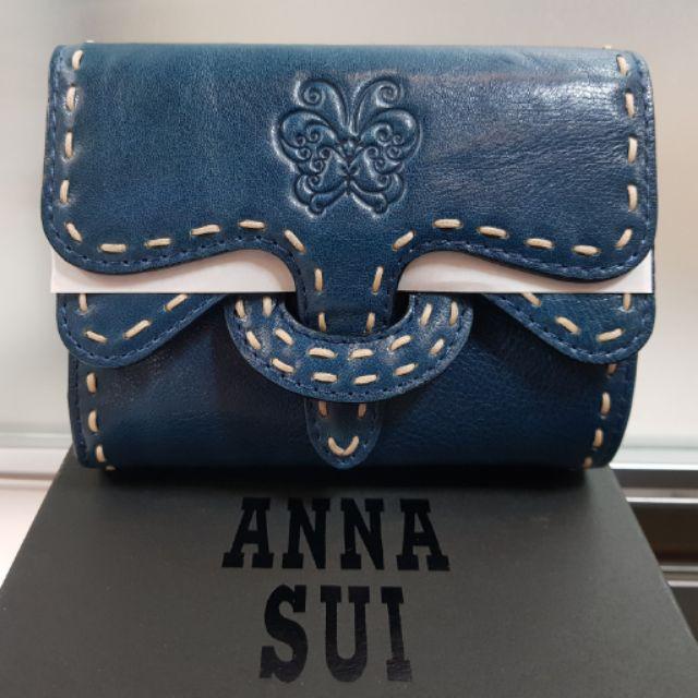 ANNA SUI 全新正品藍色中夾,降價出清!