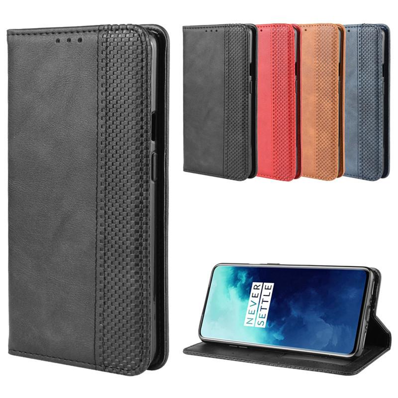 外殼 Oneplus 7t Pro 翻蓋錢包皮套卡架磁性盒