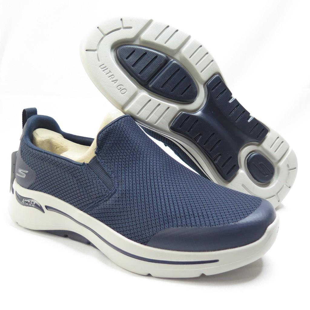 Skechers GO WALK ARCH FIT 男款 健走鞋 216121NVGY 深藍【iSport愛運動】