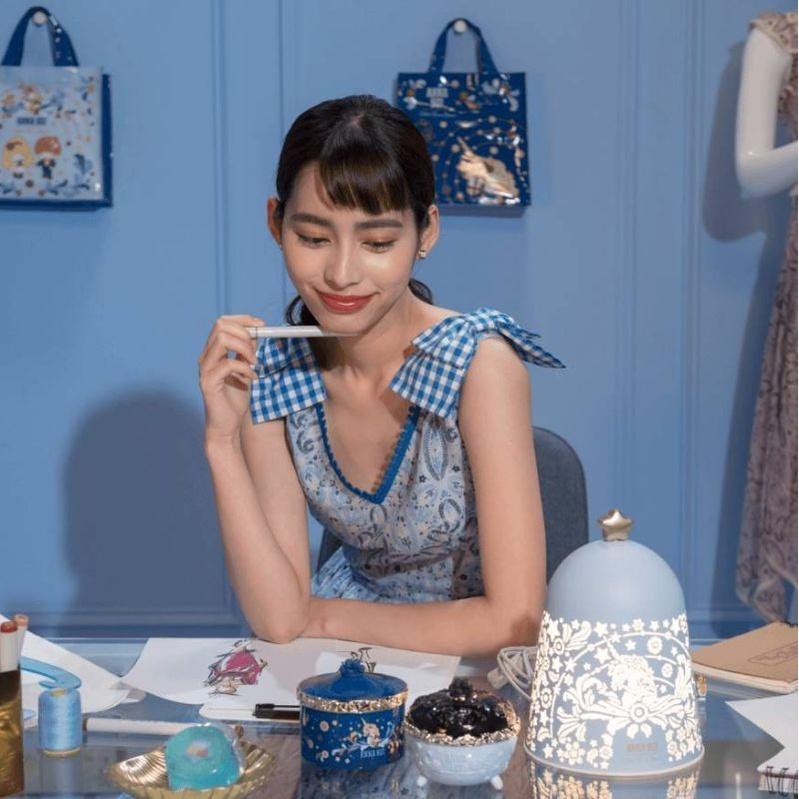 🌺轉售🌺 7-11x ANNA SUI x 三麗鷗 氣氛夜燈-夢幻藍款 (正面獨角獸/背面雙子星)