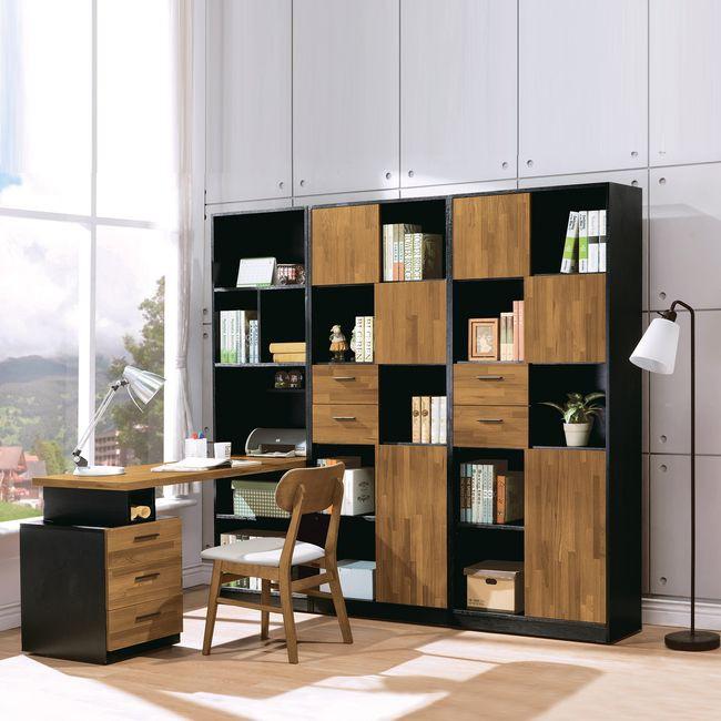 【HB501-04】科隆伸縮h型書櫥桌組
