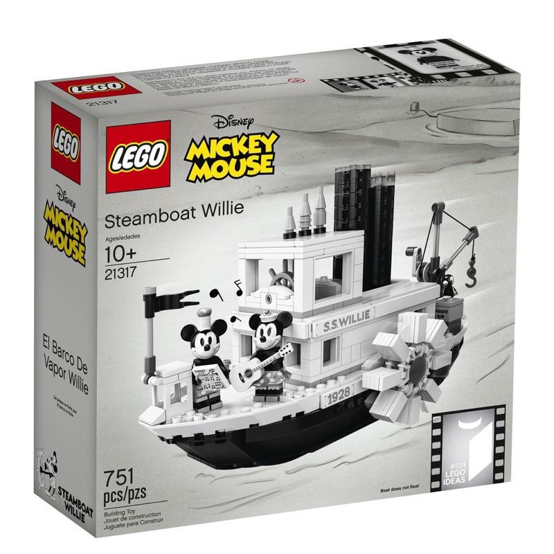 LEGO 21317 全新經典米奇蒸汽船