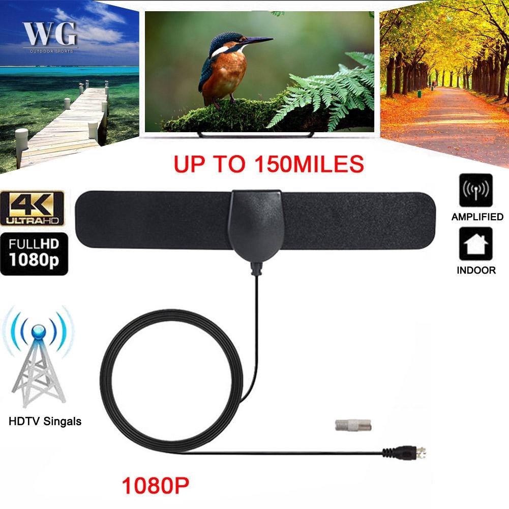 WG 150英里範圍天線電視數字高清4K Antena數字室內高清電視支持1080p