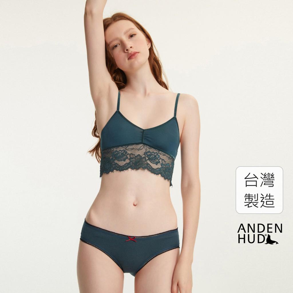 【Anden Hud】盛夏祭典.花邊低腰三角內褲(深藍綠-鯉魚旗) 台灣製
