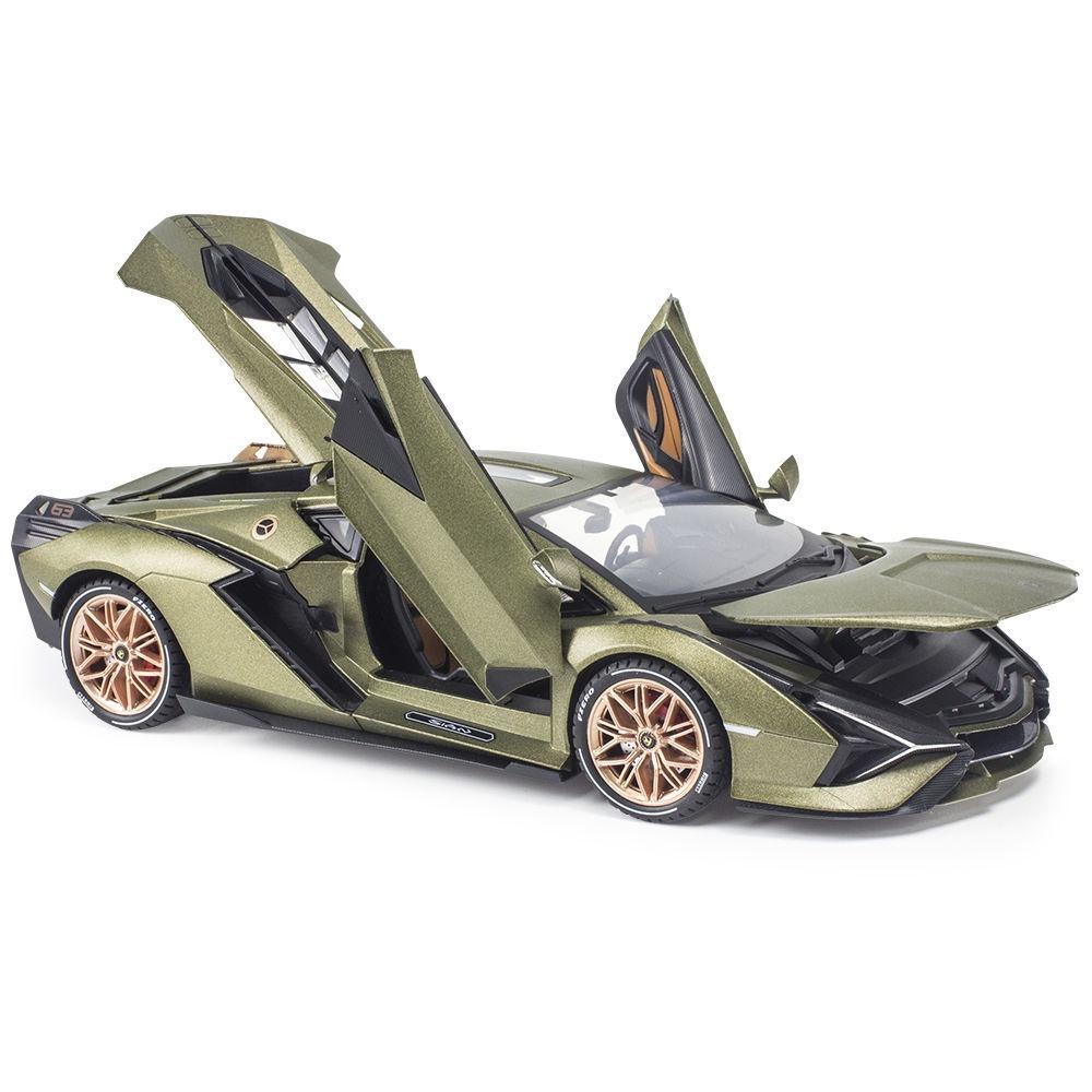 【熱賣】買大送小1:18蘭博基尼sian蘭博基尼車模型仿真合金