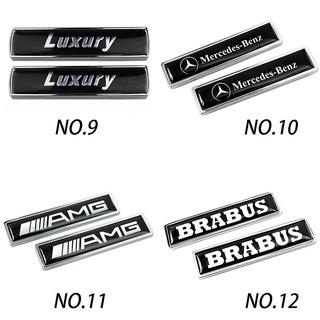 ✎▨2pcs Amg Brabus Carlsson 金屬車身貼紙汽車後標誌徽章貼花,  適用於奔馳 W168 G500