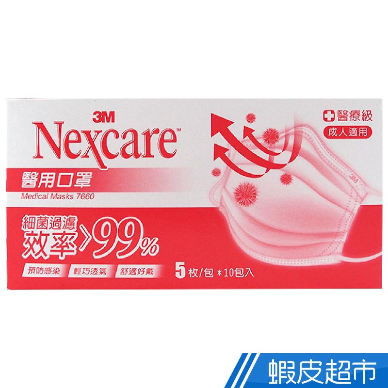 3M  Nexcare 醫用口罩 成人適用 粉色 5枚x10包(1盒裝) 蝦皮24h 現貨
