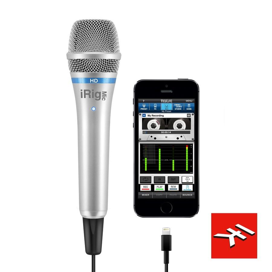 【公司貨】iRig Mic HD 手機行動裝置手持數位電容式麥克風 iphone IOS/MAC/PC 銀