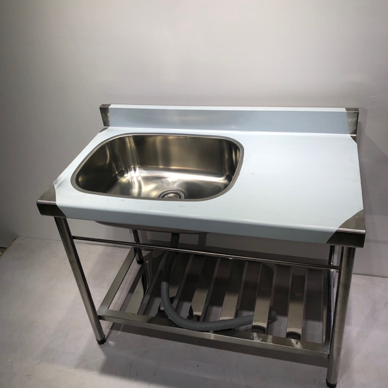 全新 免運費 不鏽鋼水槽 100cm 水槽 流理台 洗衣槽