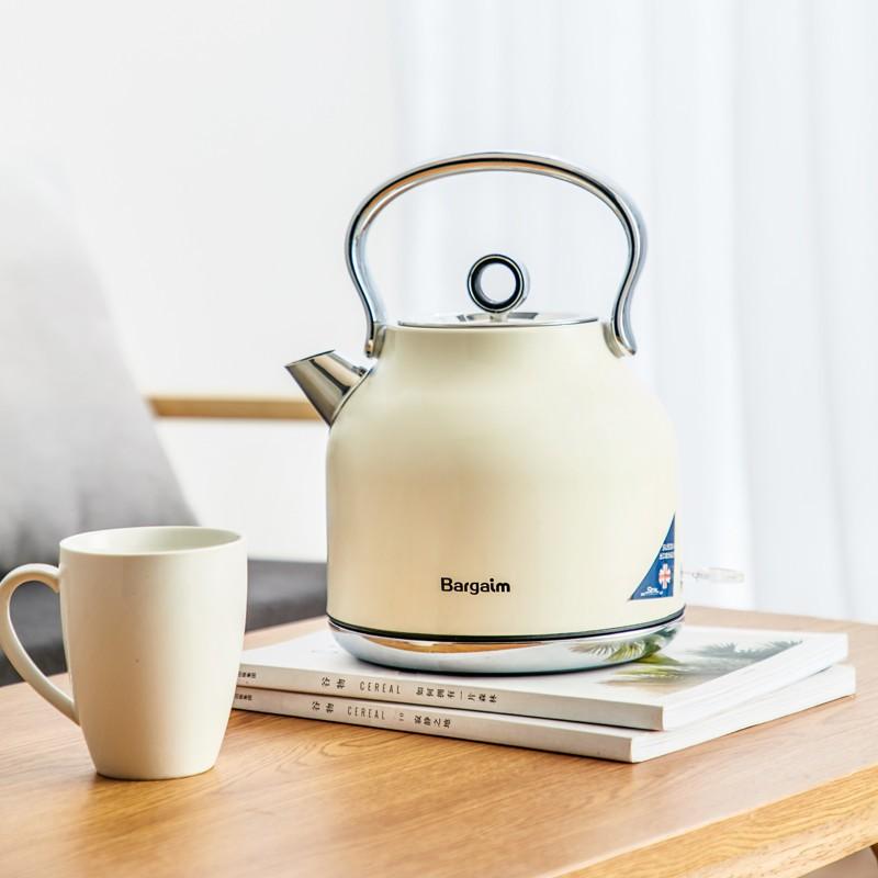 Bargaim燒水壺全自動家用304不銹鋼電熱水壺大容量煮水壺自動斷電