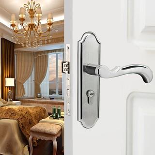 304不銹鋼室內實木門鎖通用型臥室靜音門鎖房門內門執手鎖壓把鎖