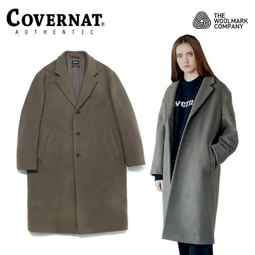 [COVERNAT] COVERNAT X TWC 羊毛查斯特大衣 灰綠色