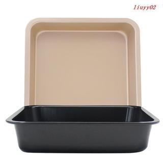 [爆款]DIY正方形烤盤 不粘蛋糕模 6吋8吋正方形烤盤 披薩盤 蛋糕模具