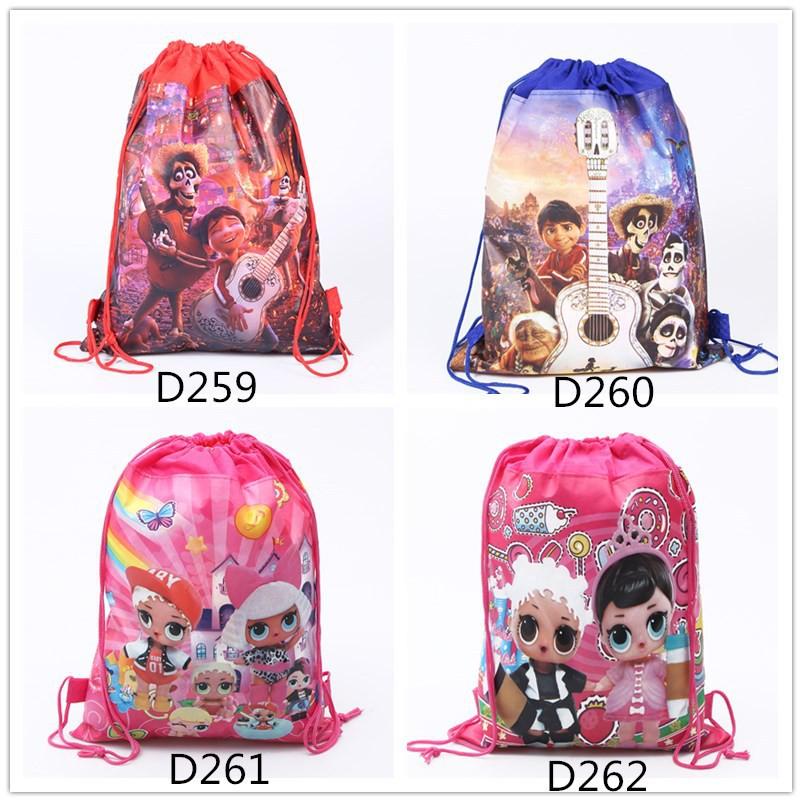 kid Coco Lol Surprise Cartoon束帶背包派對戰利品袋禮物糖果袋