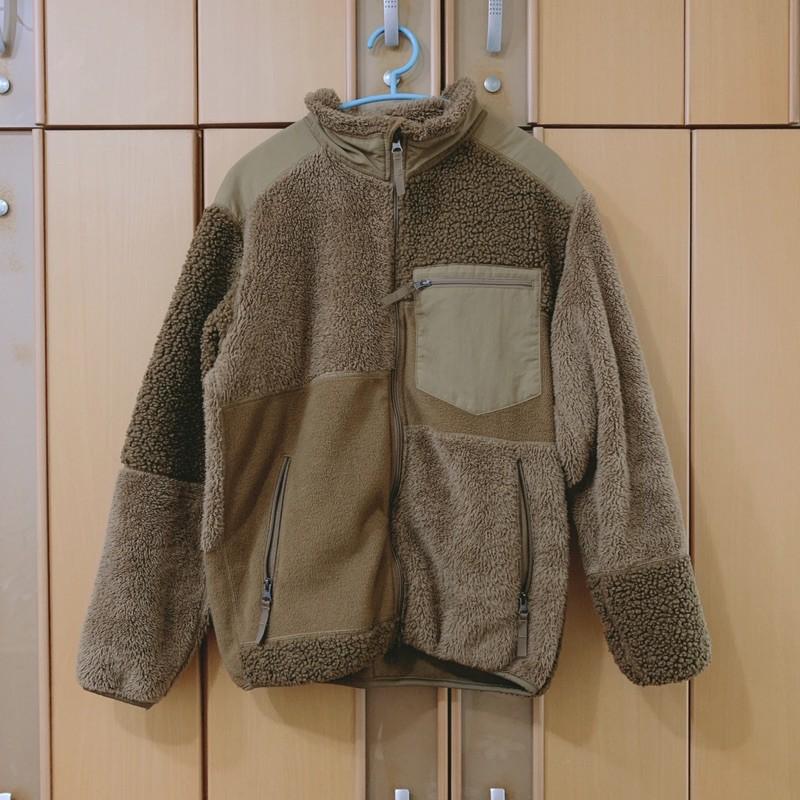Engineered Garments X UNIQLO 拼接 刷毛 羔毛 外套 卡其色