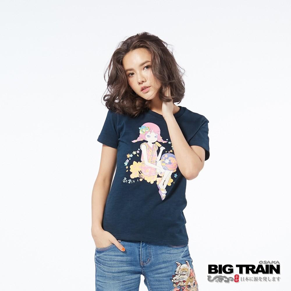 BIG TRAIN 墨達人 涼夏冰棒小葵圓領T恤 女款 貨號:B85270-56