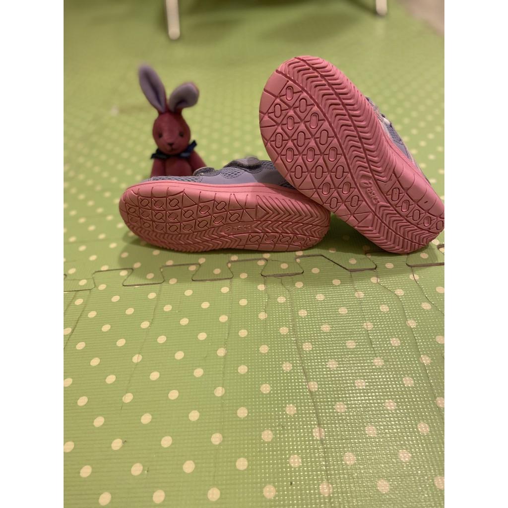 亞瑟士粉紫色機能涼鞋17cm+Dami天鵝專業特級真皮兒童機能鞋墊17cm