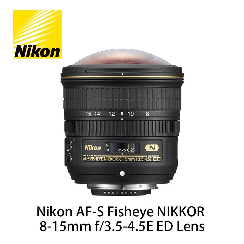 NIKON AF-S Fisheye NIKKOR 8-15mm f/3.5-4.5E ED 超廣角變焦鏡頭 公司貨