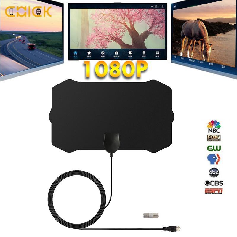 CHI 50英里範圍數字電視高清4K HDTV天線超薄50英里範圍數字電視4K HDTV天線信號F端口/電視端口