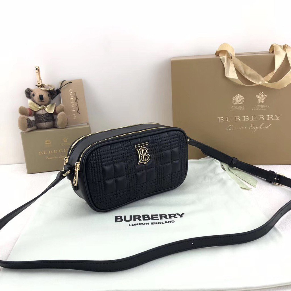 【小欣】二手 Burberry 博柏利 胸包 斜挎包 腰包 相機包 80327761 女款 黑色