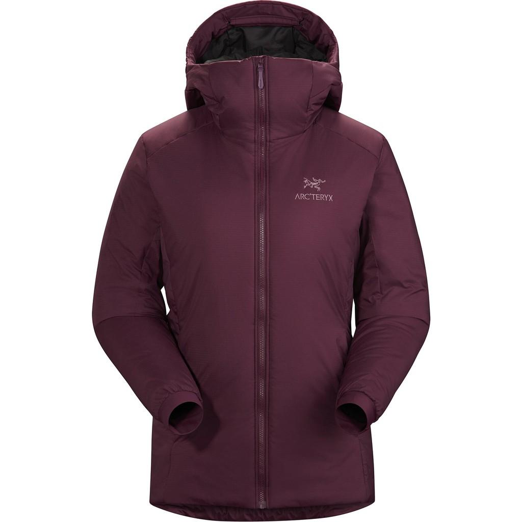 Arc'teryx 始祖鳥 女款 ATOM AR 連帽保暖化纖中層衣登山外套 紫紅 24107-Rhapsod 綠野山房