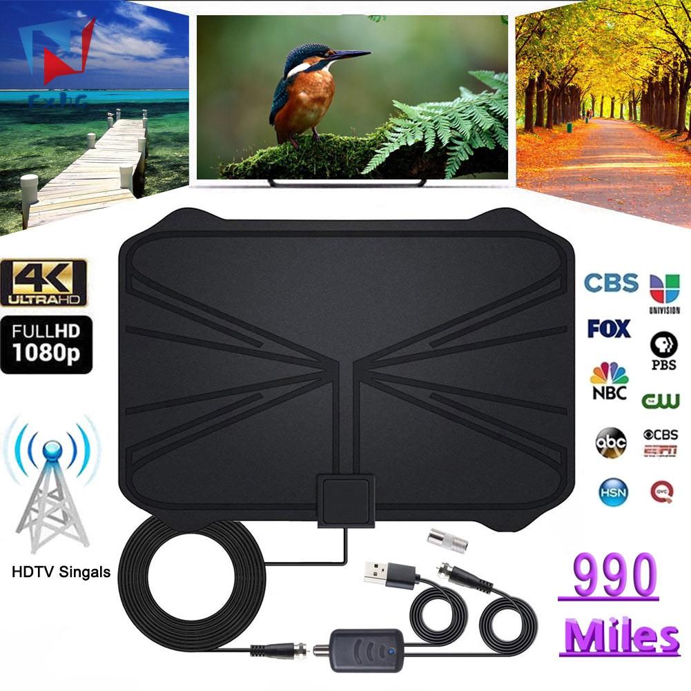 ExhG高品質960英里電視天線4K高清電視室內放大數字高清電視天線,用於本地頻道廣播首頁