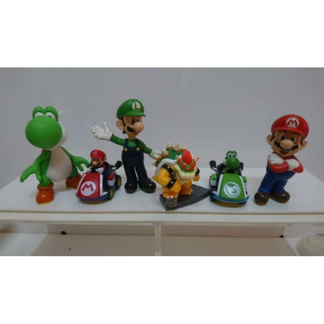 超級瑪莉歐兄弟  瑪利兄弟 瑪利歐 路易吉 耀西 庫巴 公仔 玩具 擺件 6個