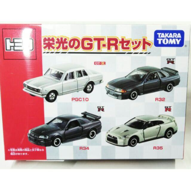Tomica 榮光 GT-R 套裝四車組 R32 R34 R35 全新
