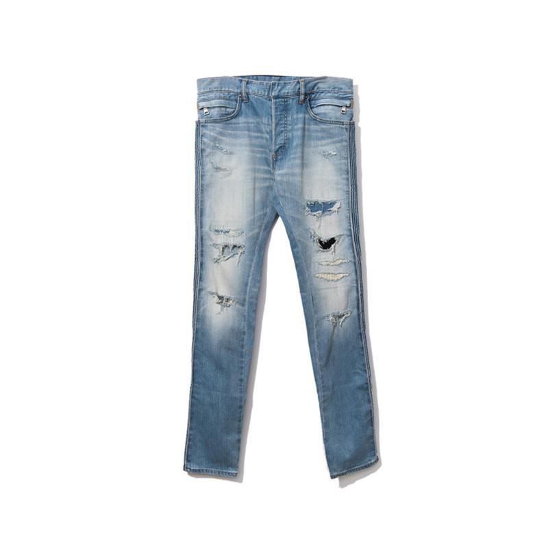 #折扣商品# Balmain 巴爾曼 17FW 水洗破洞大破壞牛仔褲