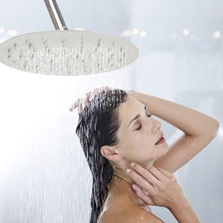 超薄不銹鋼浴室顶喷(6吋 8吋 10吋)手持圆形節水頂噴蓮蓬頭 超大面板淋浴花灑 淋浴柱 節水30%