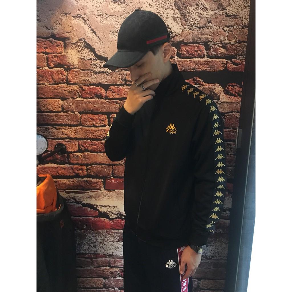 KAPPA 222 BANDA Jacket 夾克 運動外套 串標 黑金 藍紅 韓國公司貨