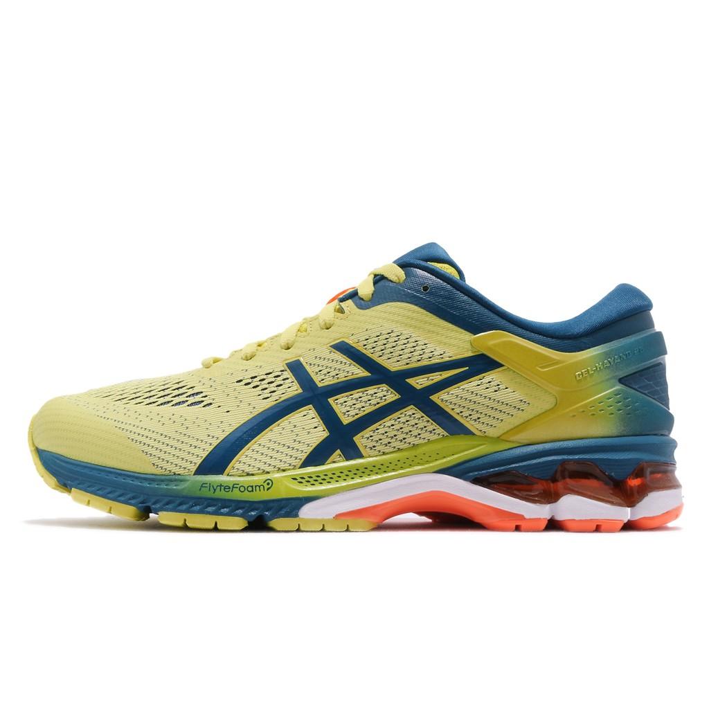 Asics 慢跑鞋 Gel-Kayano 26 黃 深藍 男鞋 1011A636-750 亞瑟士 【ACS】
