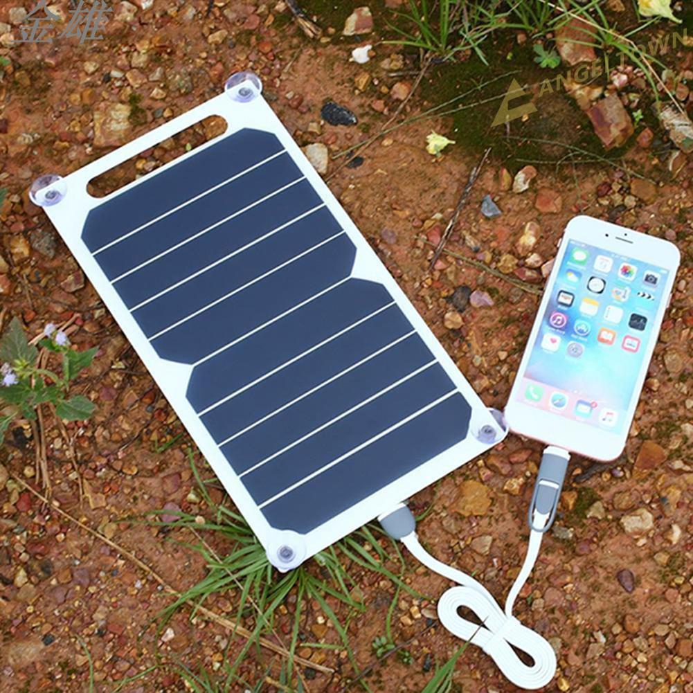 金雄6W 5V USB 端口太陽能電池板便攜式 Sunpower 充電移動電源