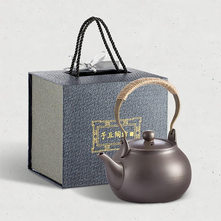 【ylj888】【csh008】潮州功夫茶具黑陶煮茶壺耐高溫燒水提梁壺中式泡茶壺手工粗陶復古