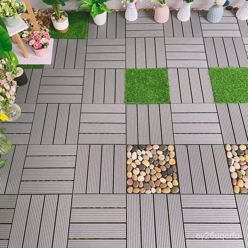 【熱銷木地板】塑木防腐戶外實木陽台庭院露台室外自己拼接改造地面鋪設裝飾地板【木地板】