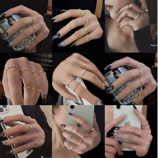 7 件 /  套戒指手指珍珠戒指套裝韓國新款時尚女性女孩派對配飾 BENE
