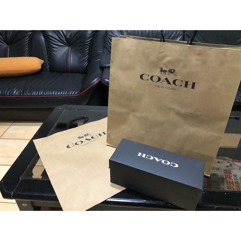 Coach拖鞋紙盒美國帶回正品