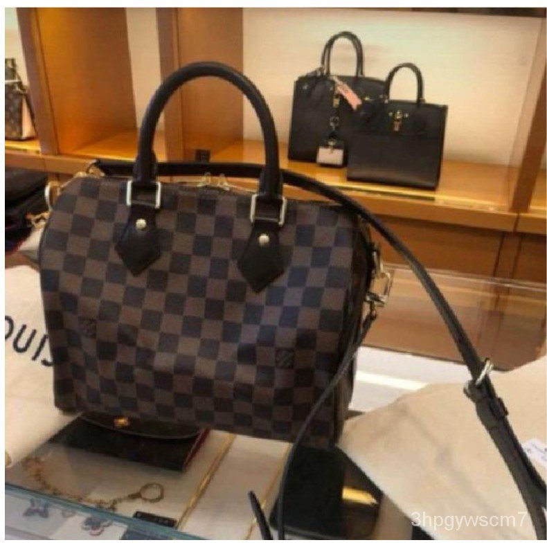 二手正品Louis Vuitton LV SPEEDY BANDOULIÈRE 25 附背帶 手提包 M41113