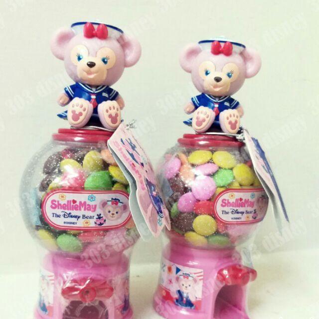 迪士尼 達菲熊 雪莉 扭蛋機 巧克力糖果機 糖果盒
