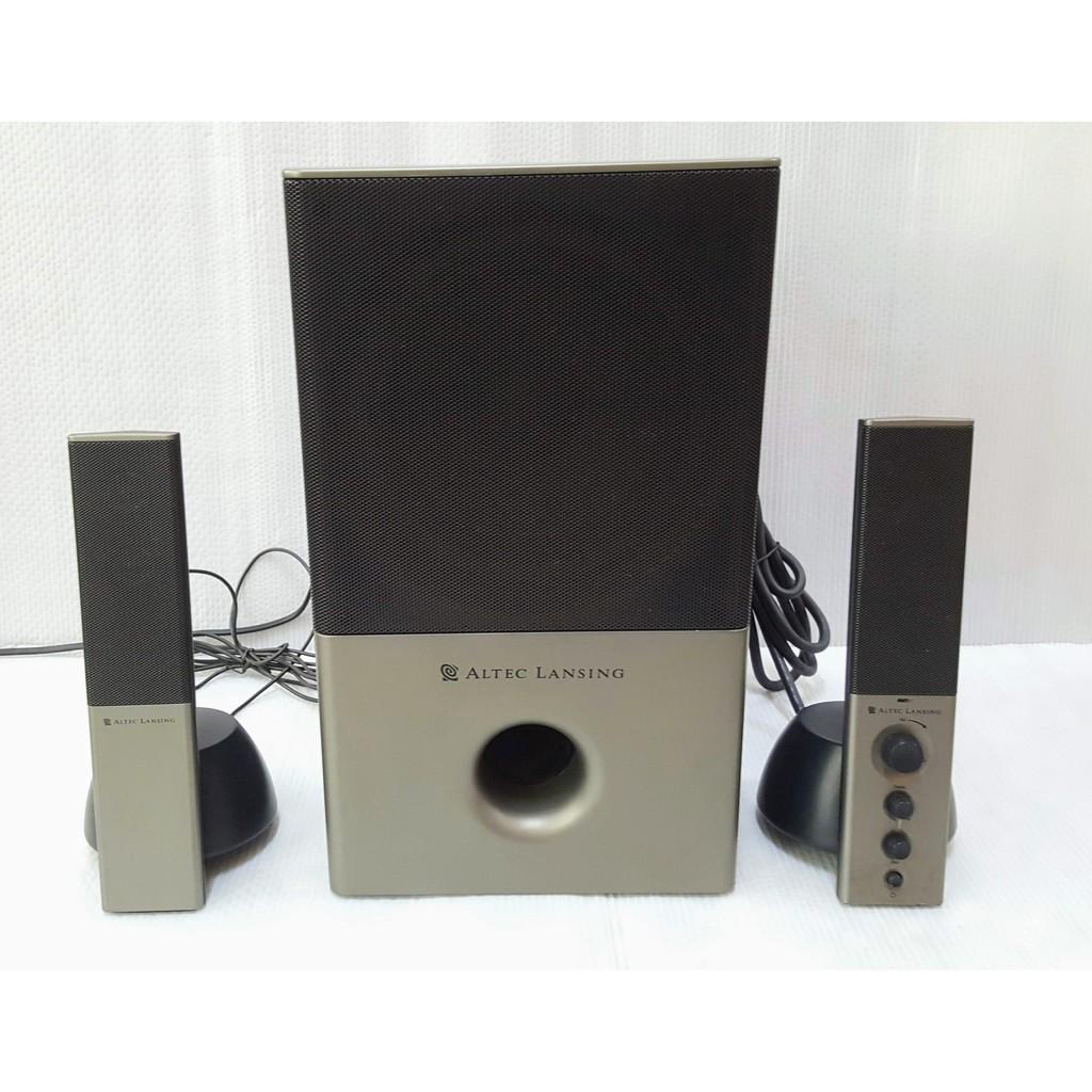 絕版收藏品 美國奧特藍星 ALTEC LANSING VS4121 2.1聲道喇叭 音響