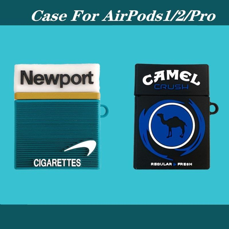遇見雅雅店 創意煙盒airpods保護套蘋果AirPodsPro3代無線藍牙耳機套硅膠軟殼