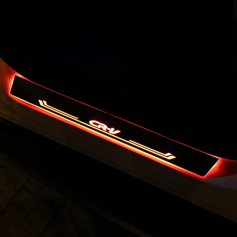 Honda~適用5代5.5代CRV門檻條 crv迎賓踏板流光LED改裝飾專用配件車用品