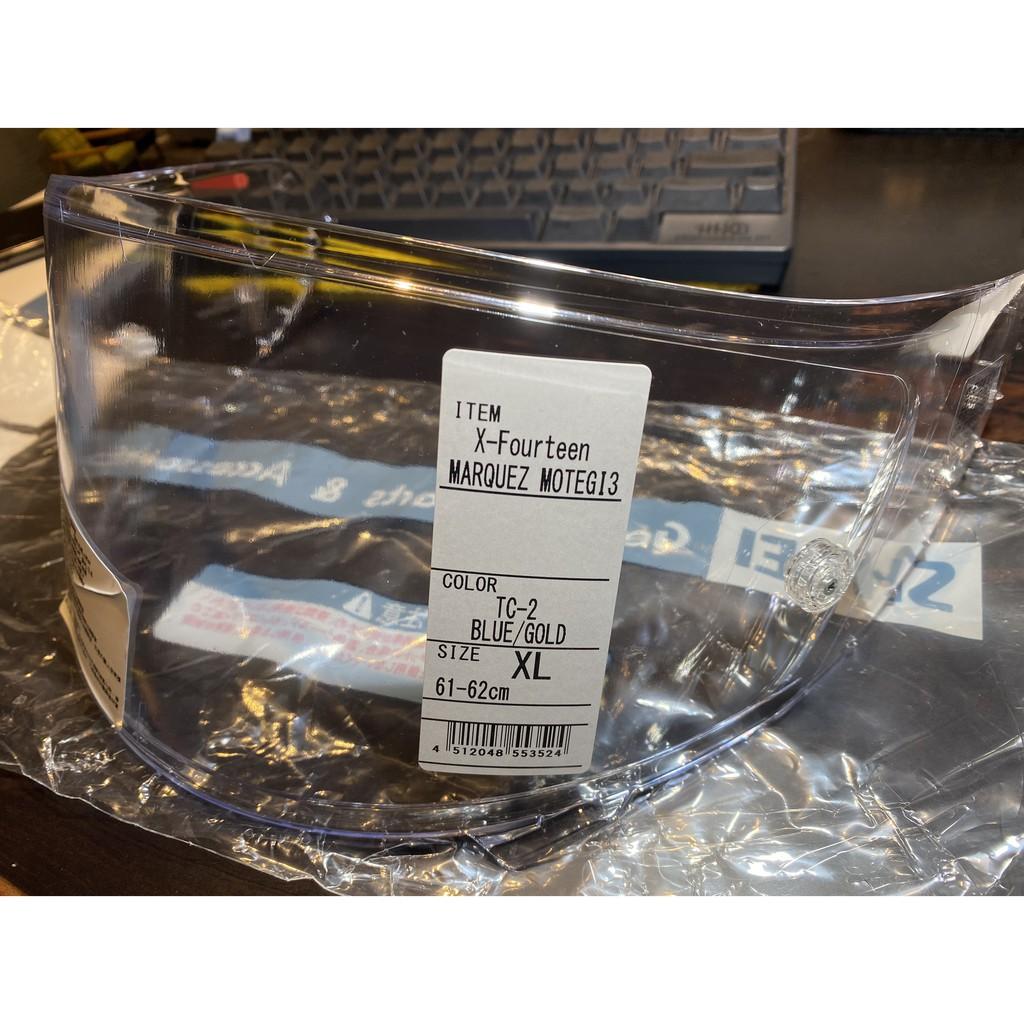 SHOEI 全新CWR-F 透明鏡片 X14 祭典帽換下 膠膜未撕