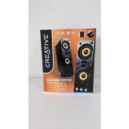 CREATIVE創新 GigaWorks T40 Series II 2.0聲道多媒體喇叭(二件式)/喇叭