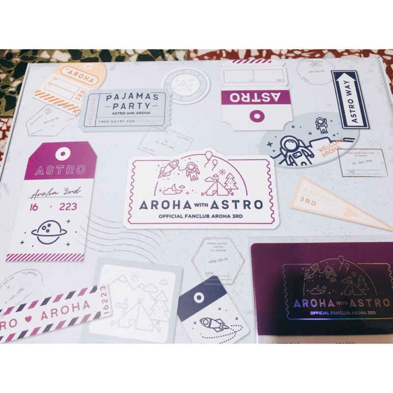 ASTRO 三期會員禮 手鍊 小卡