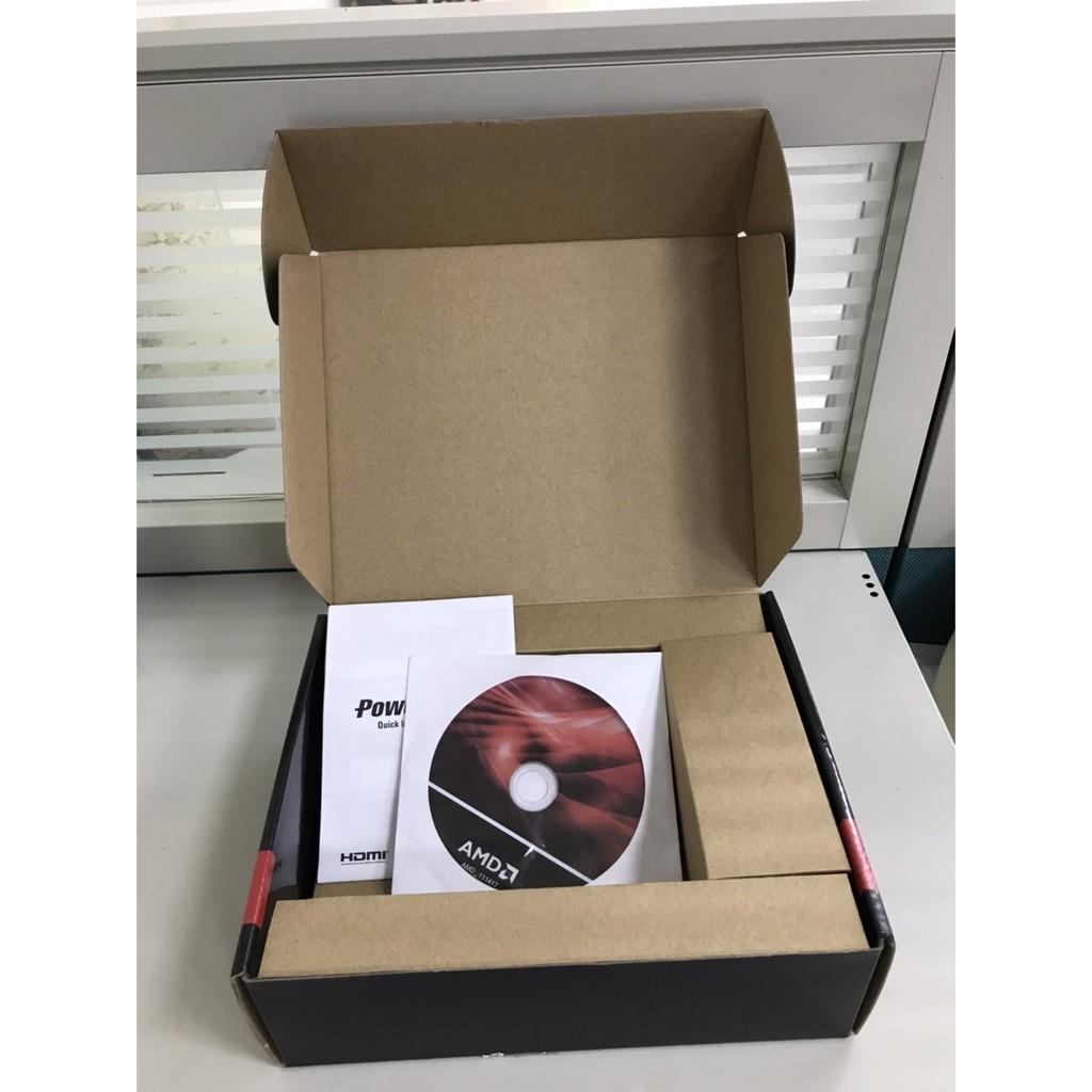 [二手]空包裝彩盒內附最新原廠 Win10 CD 撼訊電腦顯卡 AXRX 550 2GB RX550 空顯示卡彩盒