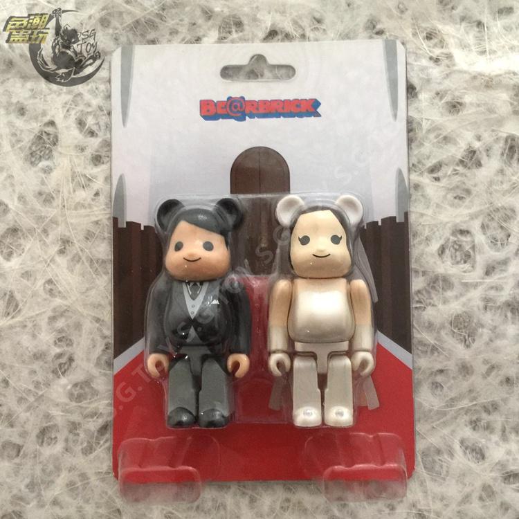 【色蠱】BEARBRICK 結婚 婚禮 一對 2012 wedding 100% BE@RBRICK 積木熊