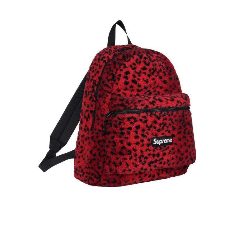 【Ting Store】【代購】supreme Leopard Fleece 後背包 紅虎紋