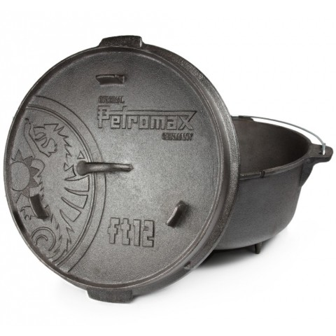 【露戰隊】PM10044、Petromax FT12 Dutch Oven 鑄鐵荷蘭鍋14吋(有腳)